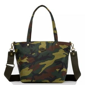 MZ Wallace Soho Tote medium camo with pouch